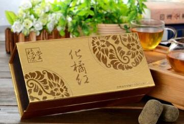 李橘园金装礼盒正毛浓缩橘红片1*42包*1.5g/盒