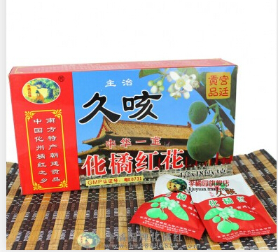 李橘园久咳纸盒橘红花1*18包*3g/盒