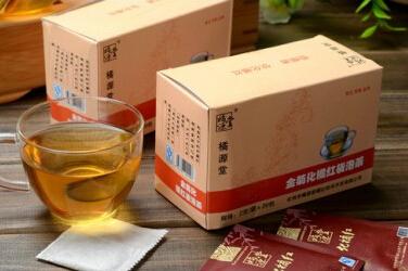 李橘园橘源堂金菊化橘红袋泡茶