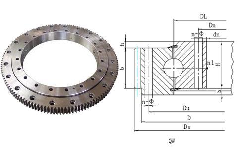润滑孔,密封装置,因此,转盘轴承具有结构紧凑,安装简单,维护方便等