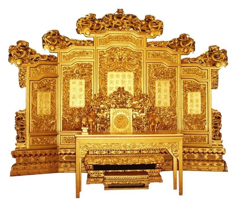 动漫皇宫龙椅图片素材背景