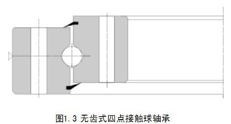 单排四点接触球式回转支承无齿式