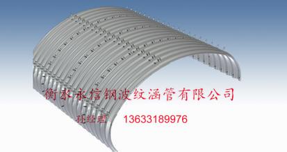 橋梁拱形鋼波紋涵管
