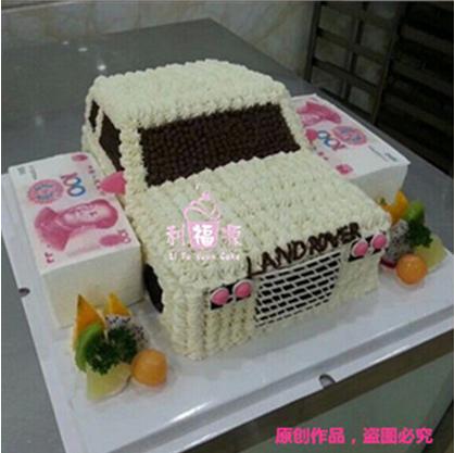 南宁定制蛋糕 网上订购路虎揽胜个性蛋糕