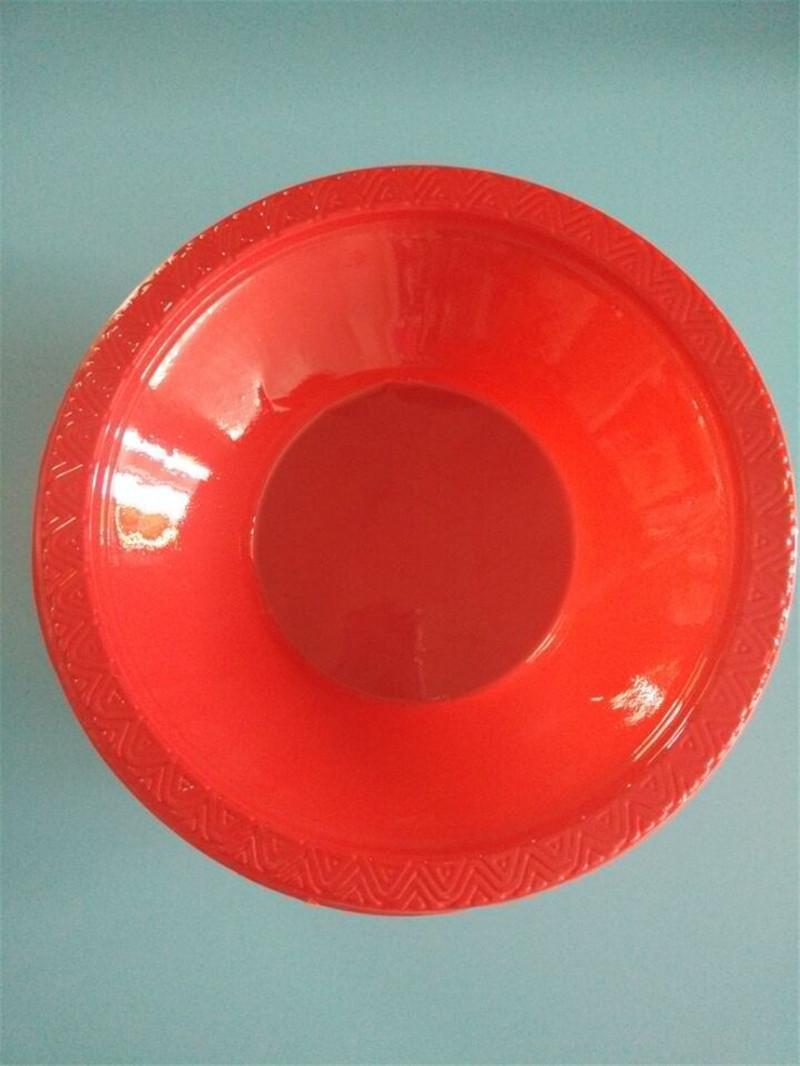 广州吸塑厂定制一次性塑料餐碟 一次性塑料碗