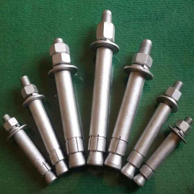 森虎牌8.8级后扩底锚栓/热镀锌机械锚栓/后切底机械锚栓