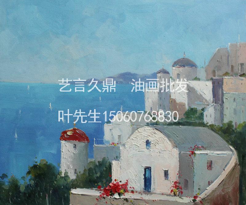 地中海希腊爱琴海手绘油画中国厦门油画批发出口