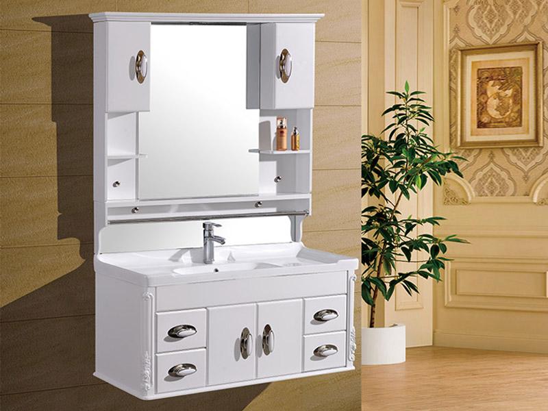 甘肃九品王卫浴专业提供欧式仿古吊柜系列 陇南卫浴柜