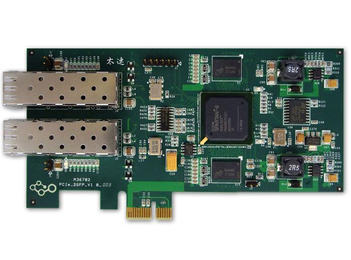 FPGA双路光纤PCIe采集卡