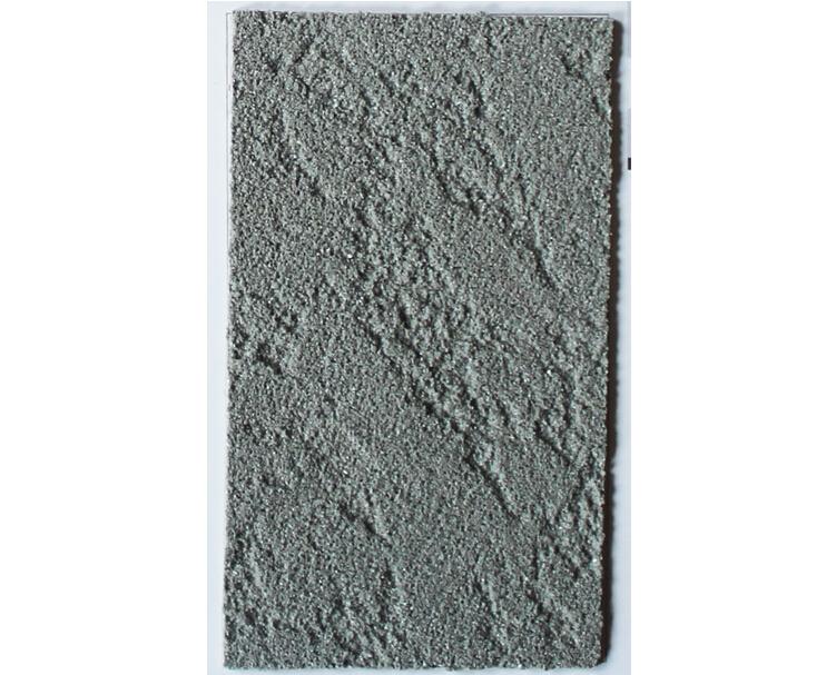 质感树皮艺术漆,质感艺术涂漆可以无限的创造与构思,通过不同工具的使用可创造型式各异,变化多样,装饰效果美观、优雅,是一种广泛应用内墙装饰的涂料。颗粒精细,比其他石材涂料触感更柔和,而且这种质感涂料不易掉砂。 产品特性: 1、天然环保,毒无味,既防水又具有良好的透气性 2、装饰质感强烈,立体饰纹制作随意,而且有极强的耐老化性 3、抗碱防腐,耐水擦洗,不起皮,不开裂,不褪色,使用寿命长 施工工艺: 1、上抗碱底漆建议以树皮主材同色底漆 2、平批树皮主材,用光身辊筒拉出树皮纹 3、干后上保护膜 施工工具 1、羊