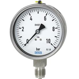 供应上海品种齐全的全不锈钢压力表|WIKA