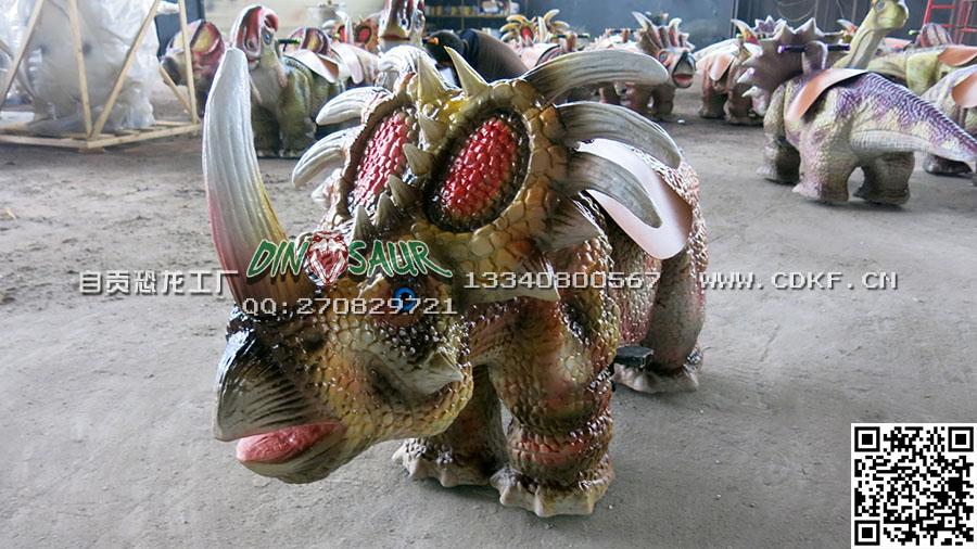 自贡恐龙童车专业供应-恐龙皮套美观大方
