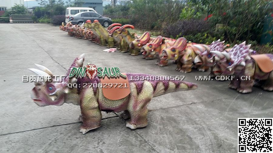 自贡恐龙童车专业供应 恐龙小童车价位