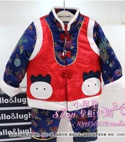 烟台市具有口碑的allo2015冬季新款韩版唐装童装套装批发——全面的童装加盟招商