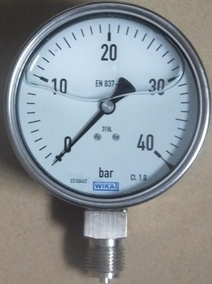 WIKA不锈钢耐震压力表-大量供应出售上海市有口碑的德国WIKA全不锈钢耐震压力表