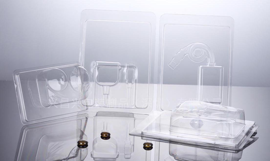 深圳平湖吸塑包装厂 透明折边吸塑内件内托内衬托盘罩包装