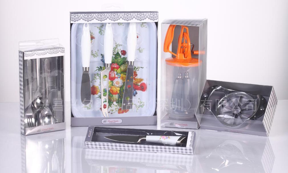 印刷PVC包装盒塑料盒纸盒吸塑厂 五金厨具刀叉餐具包装盒
